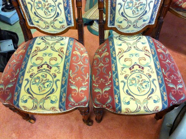 Dining chairs cleaned - before and after