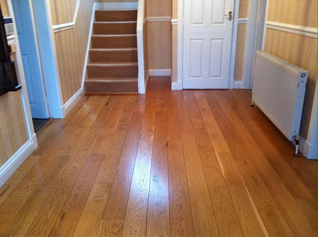 Wooden floor after treatment