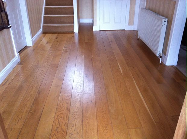 Wooden floor before treatment